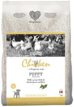 Kingsmoor Chicken Puppy Small 3 kg - Mængderabat