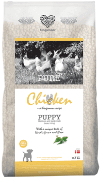 Kingsmoor Chicken Puppy Medium and Large 10,5 kg - Mængderabat