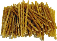Petcare Twisted Sticks Natural 13 cm, 100 stk.