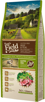 Sams Field Hundefoder -  Adult Adult Medium Beef & Veal 13 kg.