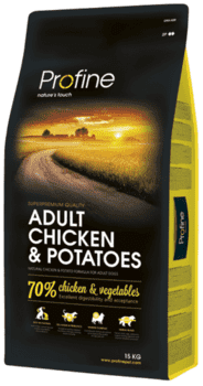 Profine Adult Chicken & Potatoes 15 kg - Hul i pose