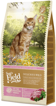 Sams Field Cat Delicious Wild 2,5 kg - Hul i pose