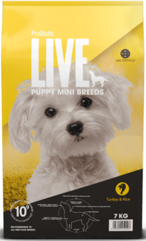 ProBiotic LIVE Hundefoder - Adult Mini Puppy Kalkun 7kg