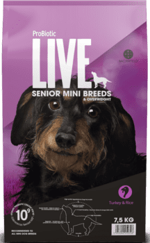 ProBiotic LIVE Hundefoder - Adult Mini Senior Kalkun 7.5kg