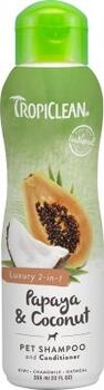 TropiClean Papaya & Coconut Shampoo and Conditioner 355ml