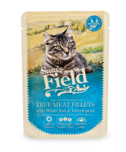 Sam's Field True Meat Fillets - Hvidfisk og Grønne ærter 85g
