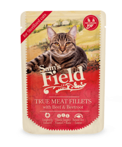 Sam's Field True Meat Fillets - Oksekød og Rødbede 85g