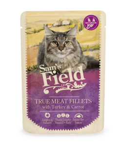 Sam's Field True Meat Fillets - Kalkun og Gulerod 85g