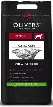 Olivers Senior Grain Free 12 kg.