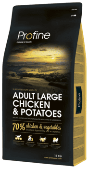 Profine Adult Large Breed Chicken & Potatoes 15 kg.