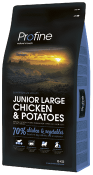 Profine Junior Large Breed Chicken & Potatoes 15 kg.