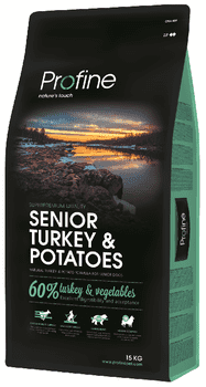 Profine Hundefoder - Senior Turkey & Potatoes 15 kg.