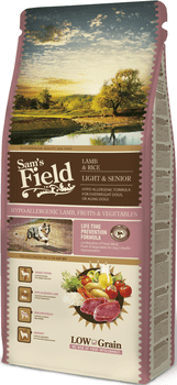 Sams Field Hundefoder - Lamb & Rice Light & Senior 13 kg.