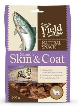 Sams Field Natural Snack Salmon Skin & Coat 200g