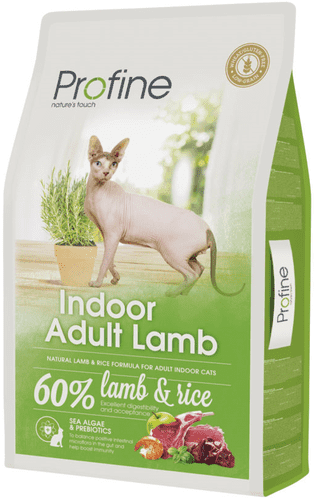 Profine Cat Indoor Adult Lamb 10 kg.