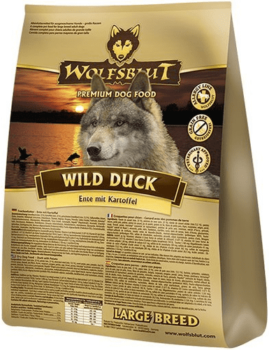Wolfsblut Hundefoder - Wild Duck Adult Large Breed 15 kg.