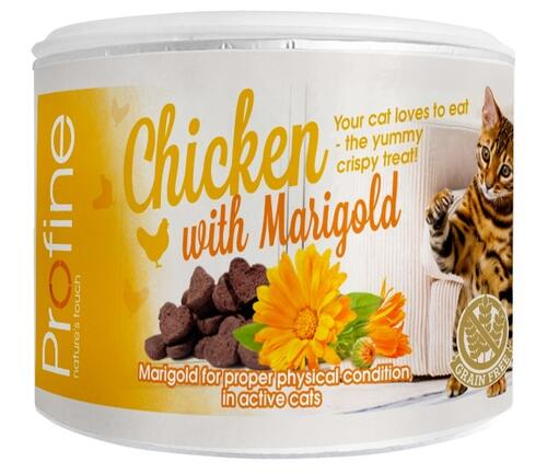 Profine Cat Crunchy Snack, Chicken & Marigold 50g