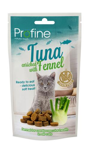 Profine Cat Semi Moist Snack, Tuna & Fennel