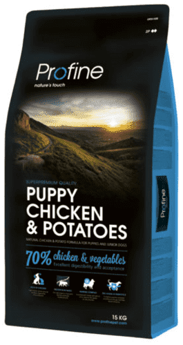 Profine Puppy Chicken & Potatoes 15 kg - Hul i pose