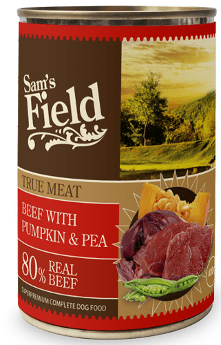 Sams Field True Meat Beef With Pumpkin & Pea 400g