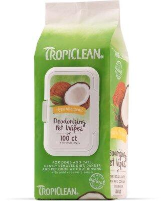 TropiClean Hypo Allergenic Wipes - 100 stk