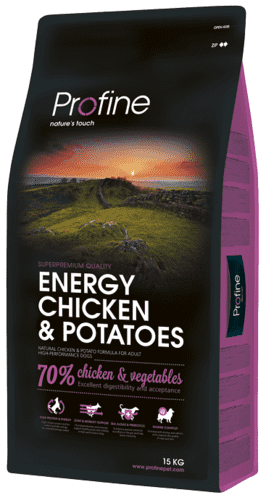 Profine Hundefoder - Energy Chicken & Potatoes 15 kg.
