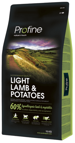 Profine Hundefoder - Light Lamb & Potatoes 15 kg.