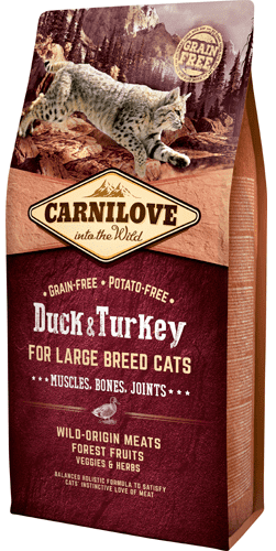 Carnilove Kattefoder - for Large Breed Cats – Muscles & Bone 6 kg.