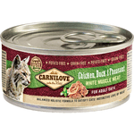 Carnilove Chicken, Duck & Pheasant for Adult Cats (12x100g)