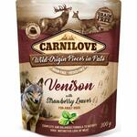 Carnilove Pouch Pate Venison with Strawberry Leaves  (300g)