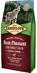 Carnilove Duck & Pheasant for Adult Cats – Hairball Control 6 kg.