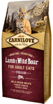 Carnilove Lamb & Wild Boar for Adult Cats – Sterilised 6 kg.