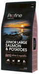 Profine Hundefoder - Junior Large Breed Salmon & Potatoes 15 kg.